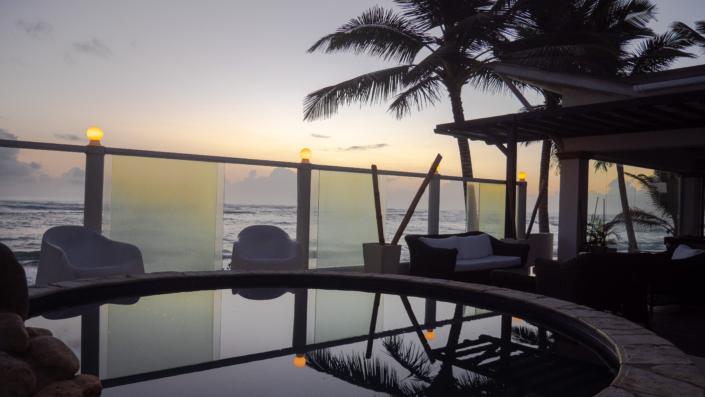 beautiful sunset at Blue Paradise DR