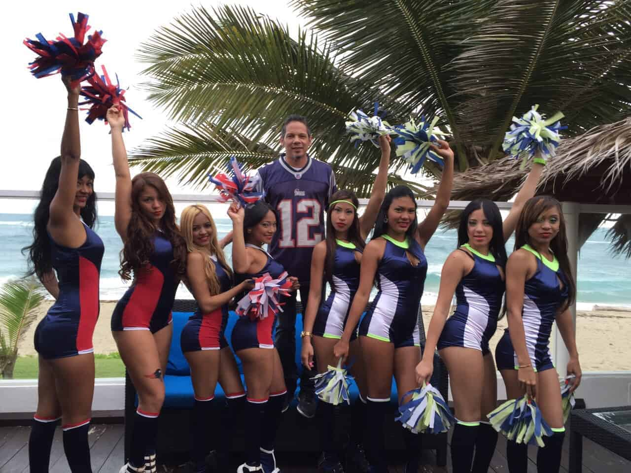 Will and his Super Bowl Cheerleaders
