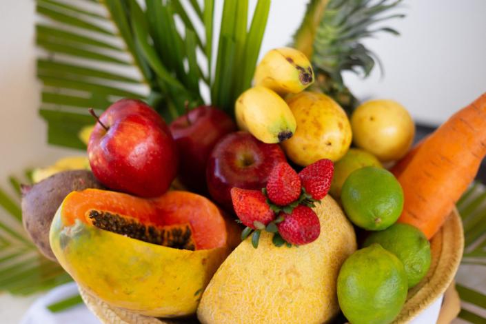 Fresh tropical fruit blue paradise DR