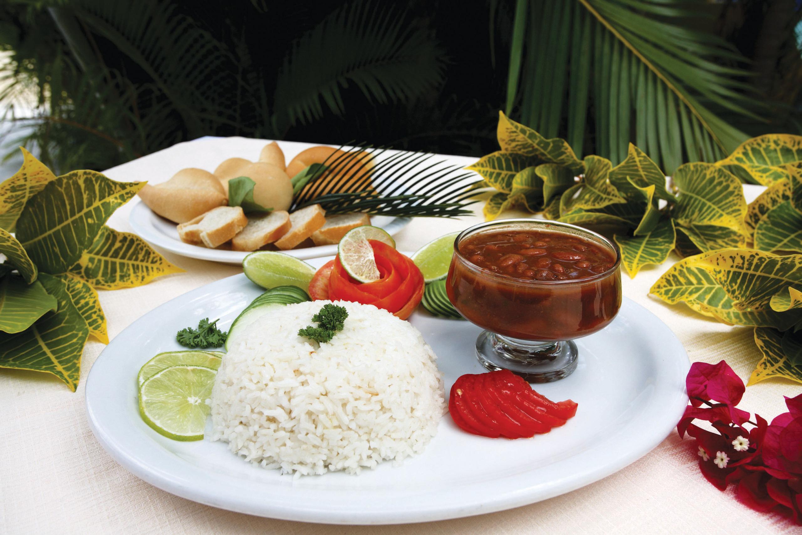 la bandera typical Dominican Republic food